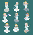 god character working day set vector image vector image