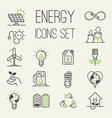 green eco energy icons set energy icons vector image vector image