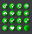 Green web icons collection 2 vector image