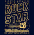 hand drawn rock festival poster rock and roll sign vector image vector image