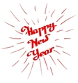 Hand-written Happy New Year with ink beam vector image vector image