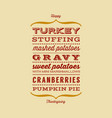 happy thanksgiving dinner greeting card vector image vector image