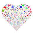 heart fireworks heart vector image vector image