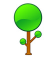 isolated comic tree vector image vector image