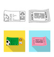 isolated object of ticket and admission logo vector image