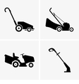 Lawn Mowers vector image vector image