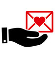 love mail offer hand icon vector image