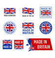 made in united kingdom great britain product vector image vector image