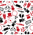 magician and magic theme set of icons seamless vector image vector image