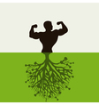 man grows vector image vector image
