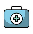 medical bag cartoon vector image vector image
