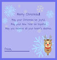 Merry Christmas postcard ornament vector image
