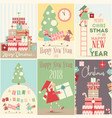 merry christmas posters set vector image vector image