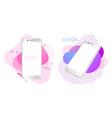 modern smartphone mockup realistic white phones vector image