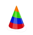 party hat isolated on white vector image vector image