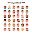 people avatars set face emotions default vector image vector image