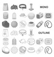 pet shop monochrom icons in set collection for vector image vector image