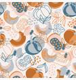 pumpkin fabric hand drawn seamless pattern vector image