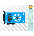 puppycoin gpu card flat icon with bonus vector image vector image