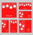 red ball set vector image vector image