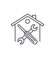 repairs line icon concept repairs linear vector image