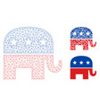 republican elephant mesh network model vector image vector image