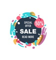 Sale abstract banner vector image