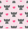 seamless pattern with cute koalas and pink hearts vector image vector image