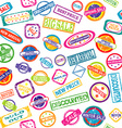Seamless pattern with stamps with discount and vector image vector image