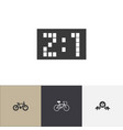set of 4 editable mixed icons includes symbols vector image vector image