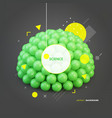 sphere 3d idea concept for science technology vector image vector image