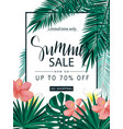 summer sale tropical banner poster vector image