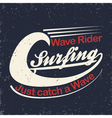 Surfers T-shirt print vector image vector image