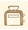 Toaster Vintage style vector image