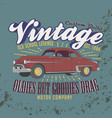 vintage custom build old school legends oldies vector image