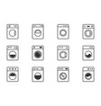 washing machine icon set laundry symbols with vector image