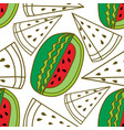 watermelon fruit pattern seamless template vector image