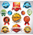 set of labels and badges with shiny styled vector image