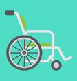 wheelchair flat icon medicine and healthcare vector image