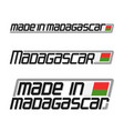 made in madagascar vector image
