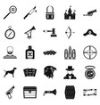 handgun icons set simple style vector image