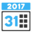 2017 year last month day halftone icon vector image