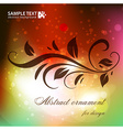 Abstract Ornament For Design vector image vector image
