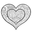 adult coloring bookpage a cute heart image for vector image