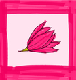 Big pink flower with pink border vector image vector image