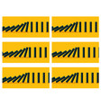 black dominoes animation sprite with yellow back vector image vector image