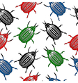 Bug seamless pattern vector image vector image