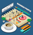 business people isometric concept vector image vector image