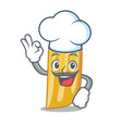 chef penne pasta character cartoon vector image vector image