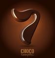 Chocolate dark 3d typeset vector image vector image